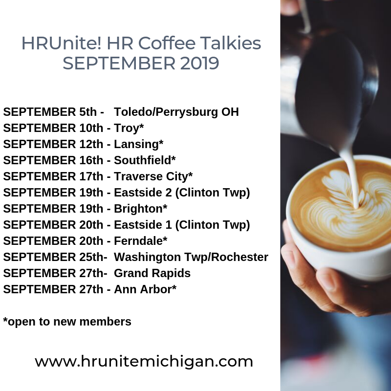 HRUnite! HR Coffee Talkies Sept 19