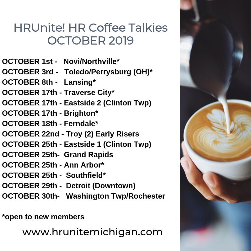 HRUnite Oct 19 Schedule